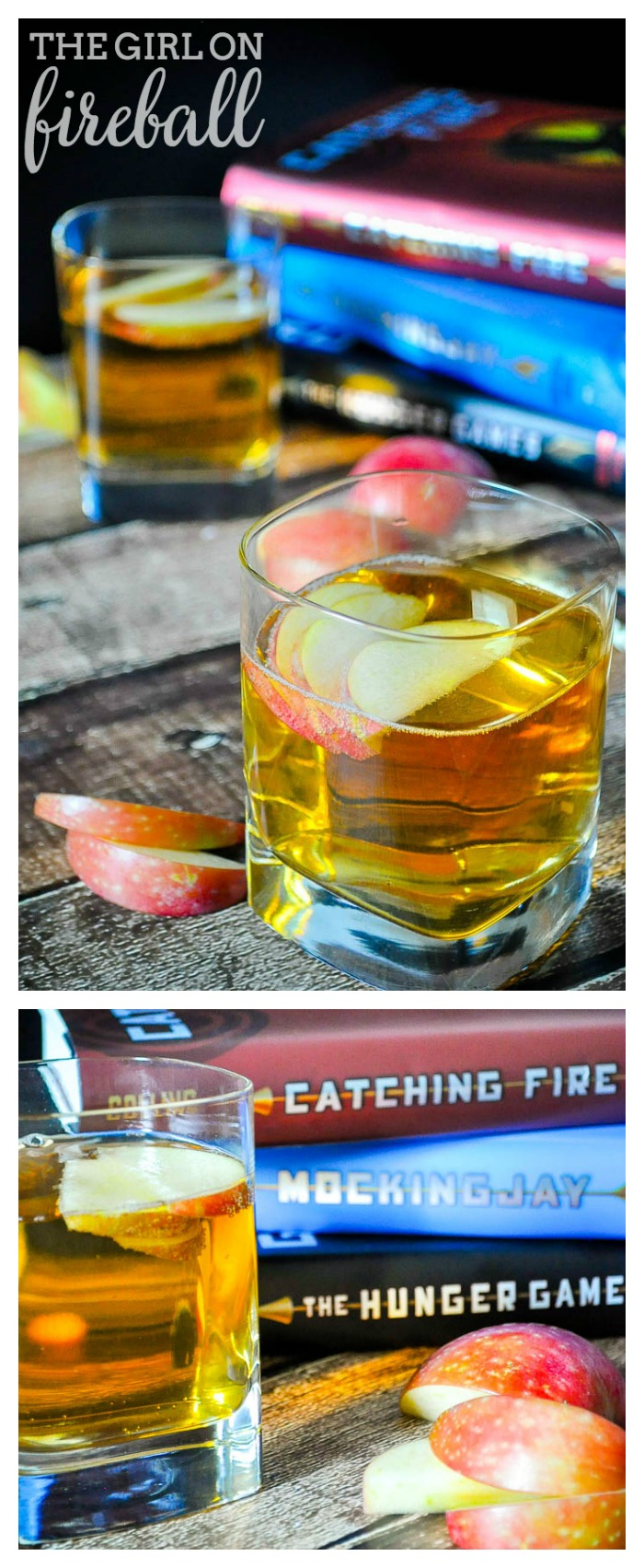 The Girl on Fireball Cocktail recipe is the perfect drink for celebrating Katniss Everdeen! It is also the first in our new series Literary Libations! | The Love Nerds