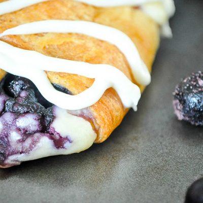 Blueberry Cream Cheese Danish Braid