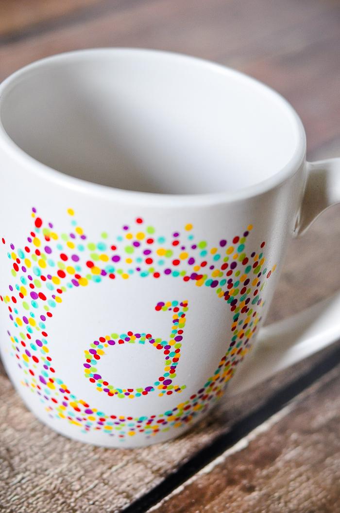 Painted Initial Mug The Love Nerds