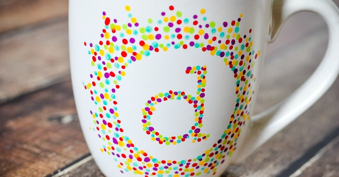 painted initial mug the love nerds