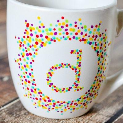 Painted Initial Mug