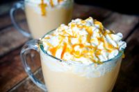 Bah Rumbug! While normally not a huge eggnog fan, I cannot get enough for this sweet and creamy Salted Caramel Eggnog! Content for 21+ | The Love Nerds AD DailysDessertCocktails