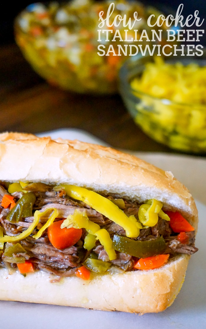 Slow Cooker Italian Beef Sandwiches - Nothing beats a juicy Italian Beef! It's perfect for dinner and as party food. | The Love Nerds