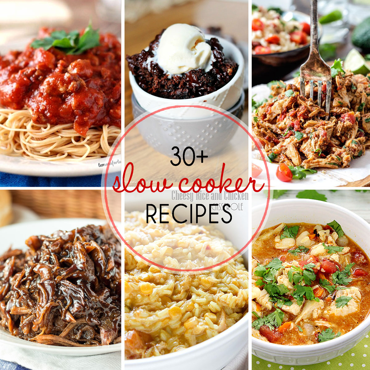30+ Slow Cooker Recipes - So many fabulous dinner recipes to try and even a slow cooker dessert recipe! | The Love Nerds