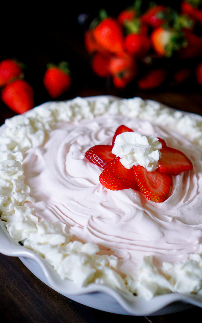 Frozen Strawberry Yogurt Pie - A quick prep pie recipe that is perfect for spring and summer!   The Love Nerds
