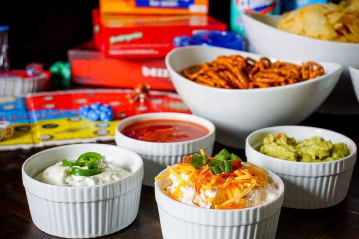 Get together with your friends for a fun and easy Chip Dip Game Night! Perfect for both small and larger group gatherings. | The Love Nerds #ad #gathernow