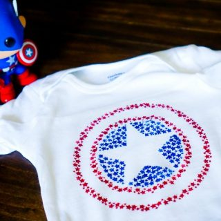 DIY Captain America Star Shield Shirt