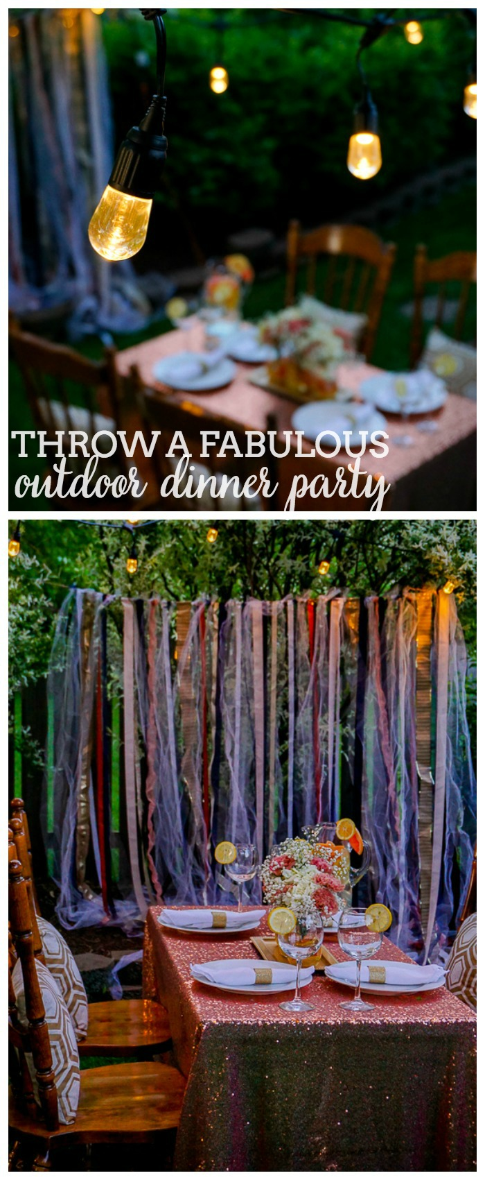 Simple Ideas for Throwing a Gorgeous Outdoor Dinner Party | The Love Nerds #ad #EnbrightenLife @jascoproducts