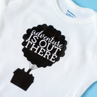 Adventure is Out There - UP! Themed Coming Home Baby Outfit! Welcome baby home in this adorable diy onesie! | The Love Nerds