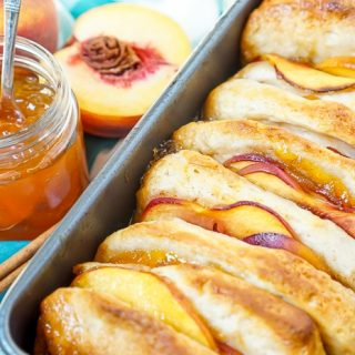 Fresh Peach Pull Apart Bread