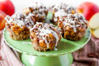 Apple Pie Cinnamon Roll Muffins - A classic dessert and breakfast sweet combine to make the perfect muffin! | The Love Nerds