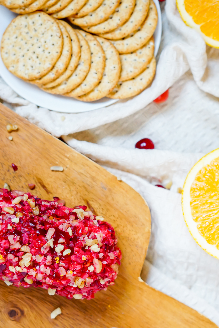 Cranberry Orange Walnut Goat Cheese Log is a gorgeous and delicious appetizer recipe for your next party! | The Love Nerds