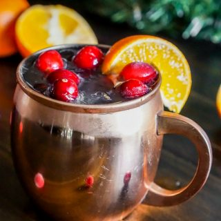 Cranberry Tangerine Lemonade Moscow Mule
