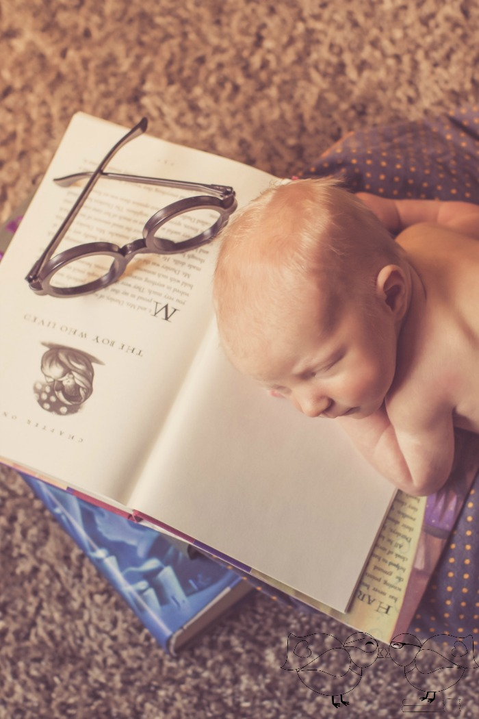 "Welcome Baby Liam: Harry Potter Newborn Photos - ""Happiness can be found even in the darkest of times, if one only remembers to turn on the light."" 