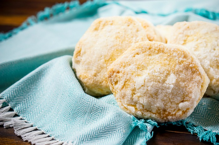 Enjoy a tasty shortcake dessert in no time by making the Easiest Shortcake Biscuits! You are only 3 ingredients away from a great dessert! | The Love Nerds