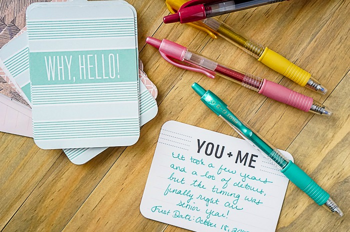 DIY Anniversary Journal - Remember life's important moments and details with a simple but crafty and photo centered relationship album. | The Love Nerds AD #DoYouG2
