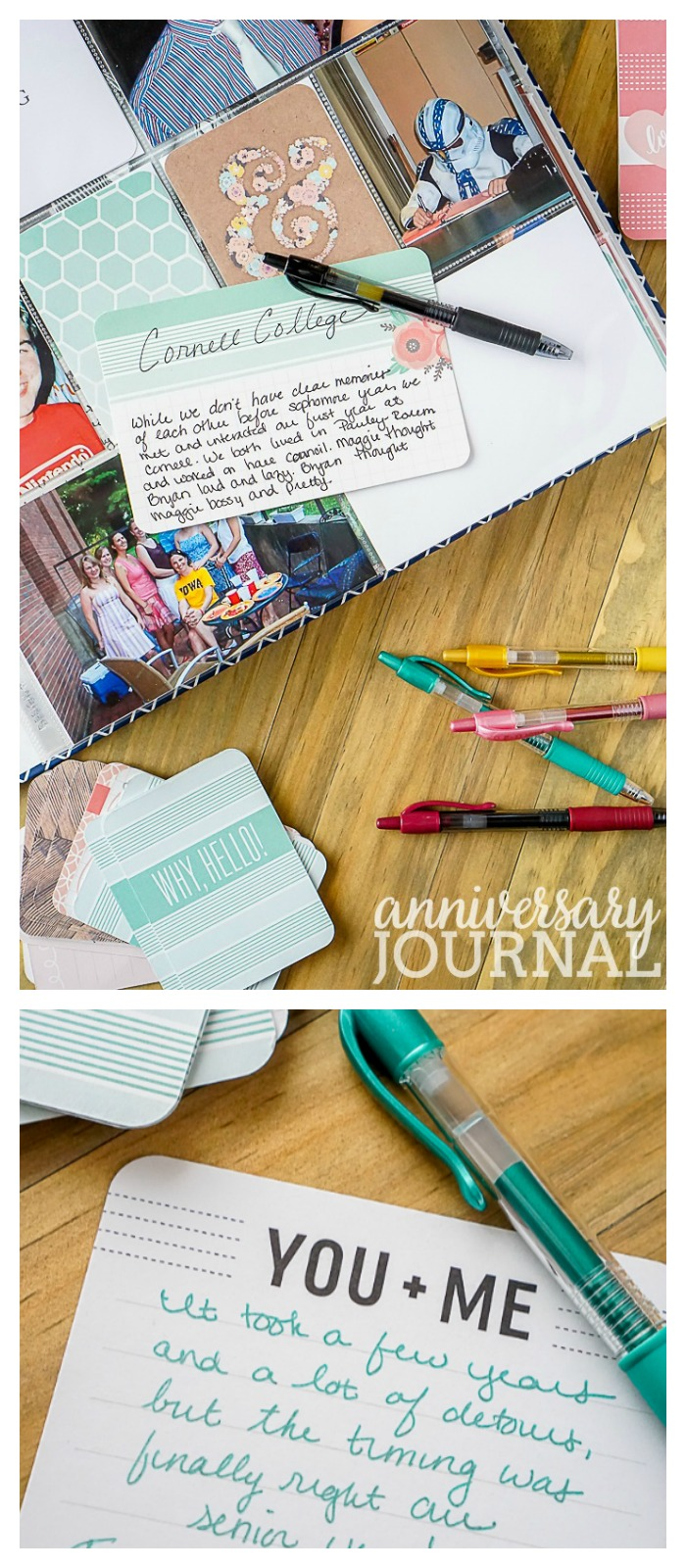 DIY Anniversary Journal - Remember life's important moments and details with a simple but crafty and photo centered relationship album.   The Love Nerds AD #DoYouG2