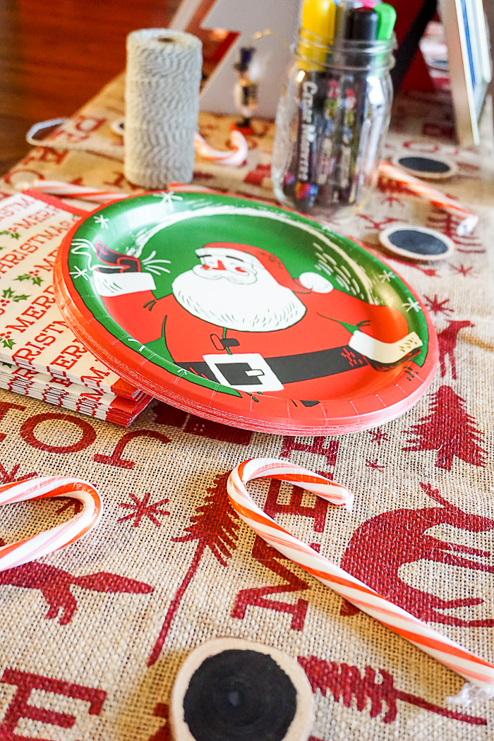 Vintage Christmas Party Thrown with Minute Rice, including a fun wood ornament, Horchata coffee bar, and Cranberry Pear Spinach Rice Pilaf Recipe - A tasty rice recipe that makes a beautiful holiday side dish or an easy dinner idea if you just add chicken! |The Love Nerds AD VintageMinute