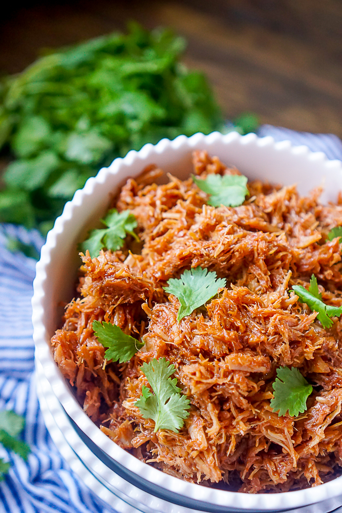 4 Ingredient Slow Cooker Pulled Pork Recipe - One of our incredibly easy family dinner recipes that is perfect for serving large groups or as leftovers!   The Love Nerds
