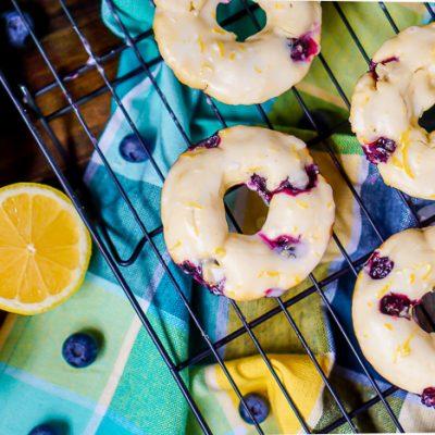 Baked Lemon Blueberry Donuts