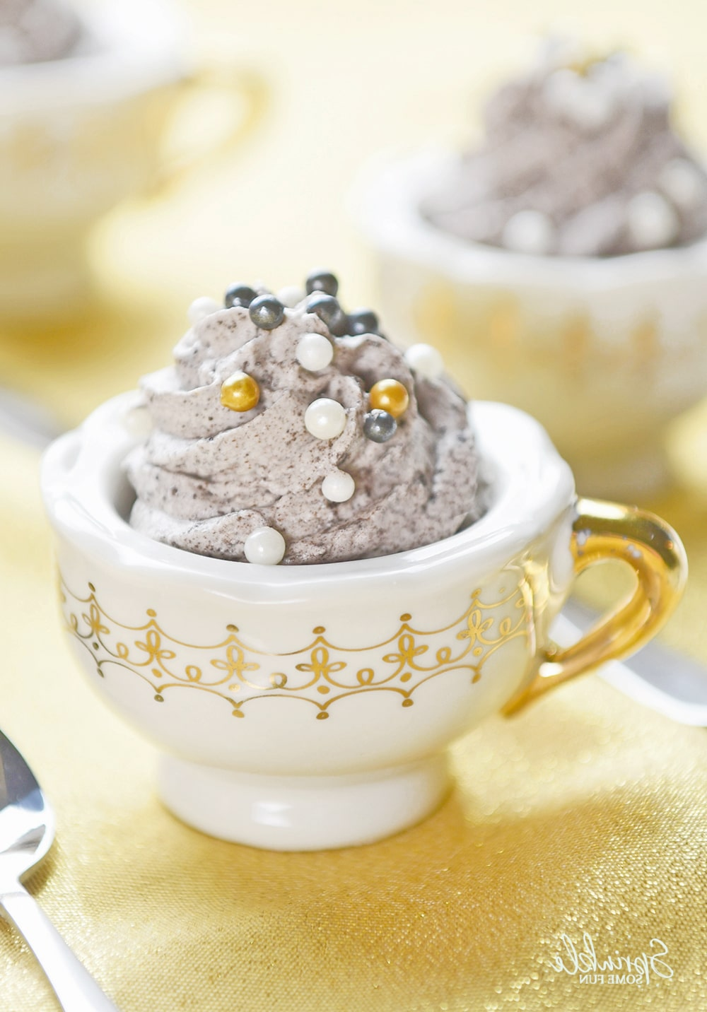 The Grey Stuff Mousse In Teacups Sprinkle Some Fun