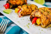Baked Fajita Chicken Roll Ups