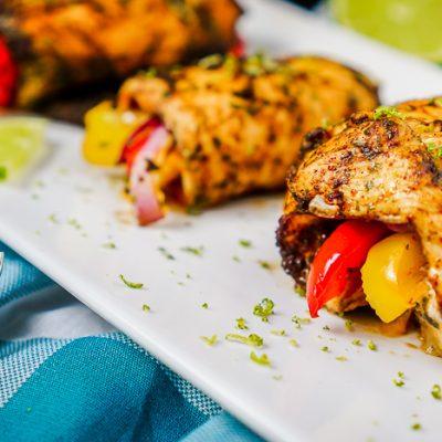 Baked Fajita Chicken Roll Ups
