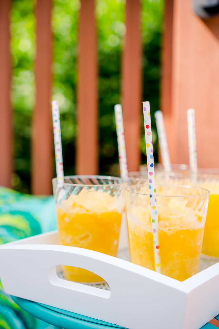 8 Tips for Hosting the Ultimate Pineapple Pool Party! From tips and tricks to fun Tropical Slushy Recipe for both the kids and adults, I have you covered! | The Love Nerds #ad #MyChinetParty @mychinet