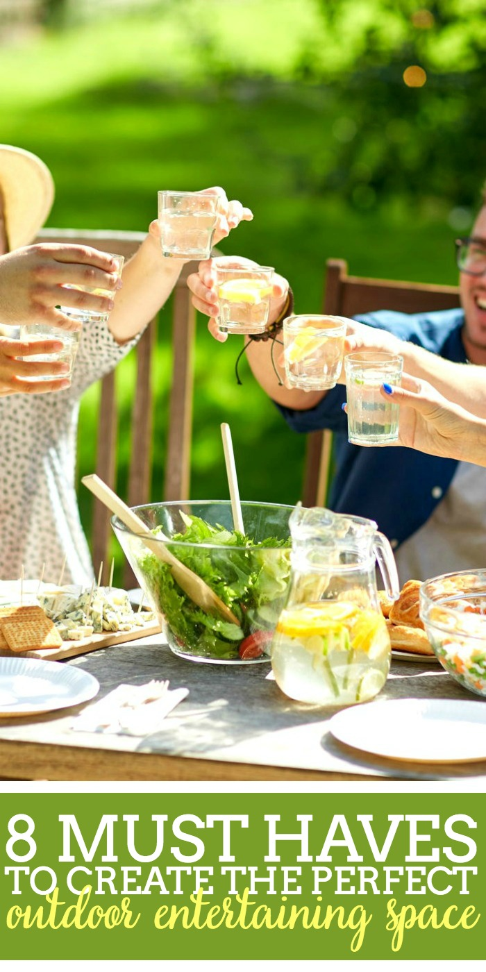 8 Must Haves to Create the Perfect Outdoor Entertaining Space - Create a backyard space for summer that is comfortable, functional, and beautiful | The Love Nerds #ad #worldmarkettribe
