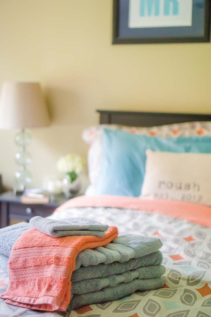 Refreshing the Master Bedroom on a Budget - Part of my anniversary gift was a bedroom spruce with the help of Sam's Club, plus a good spring cleaning! | The Love Nerds AD