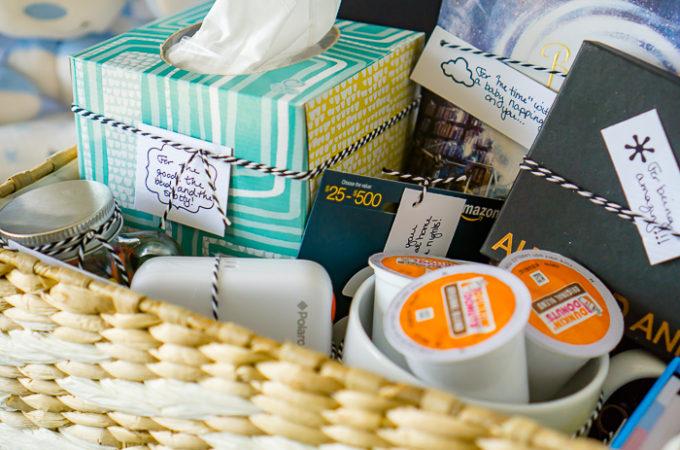 New Mom Gift Basket Ideas | The Love Nerds #KleenexMoments