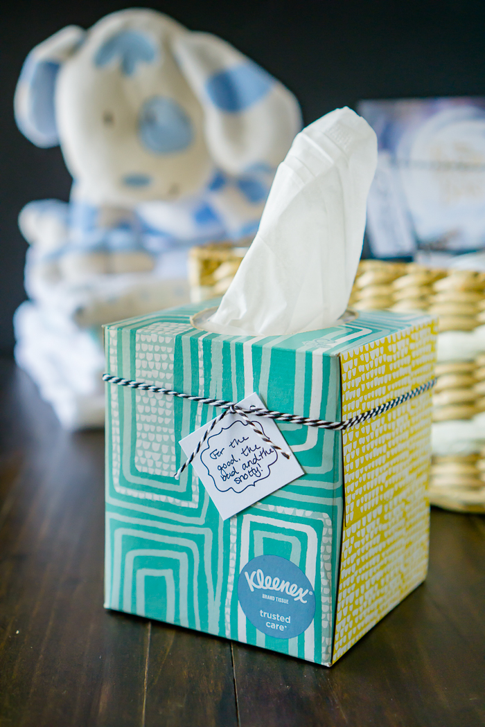 New Mom Gift Basket Ideas | The Love Nerds #KleenexMoments