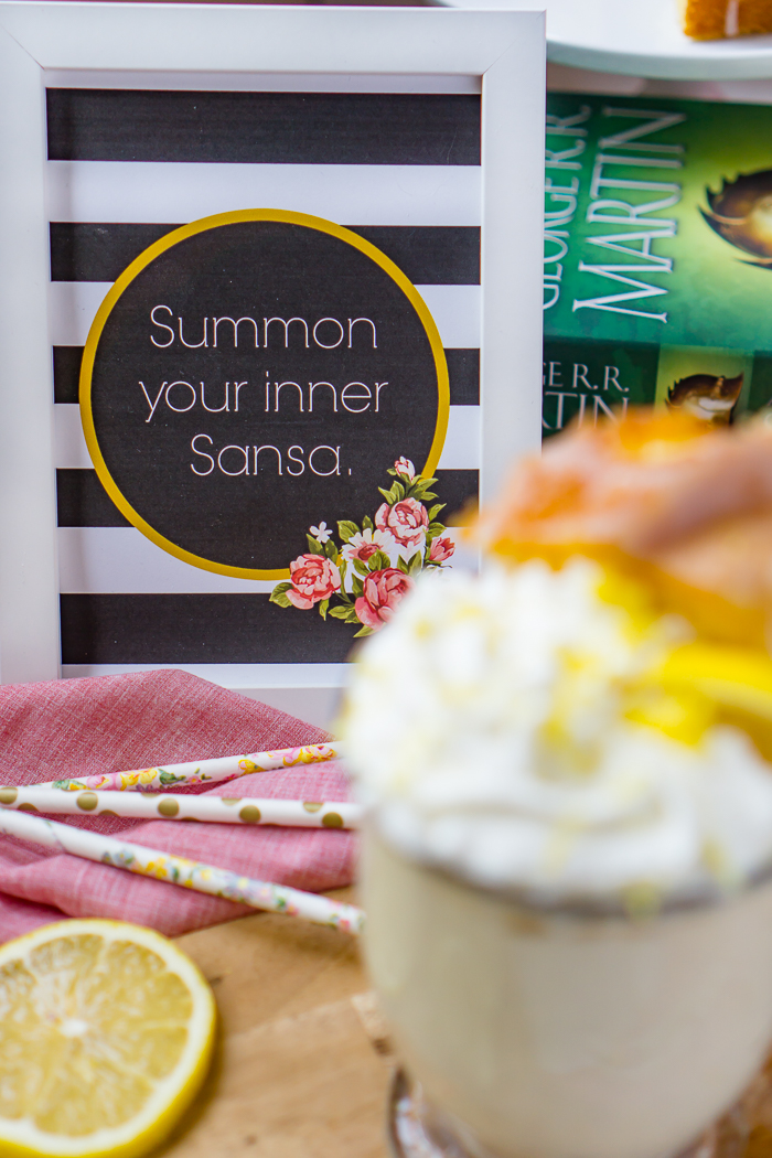 Don't miss our latest Game of Thrones Inspired Recipe - Sansa's Lemon Cake Milkshake Recipe! A light citrus milkshake that's refreshing and satisfying! | The Love Nerds #GameofThrones #SansasLemonCakes #lemonmilkshake