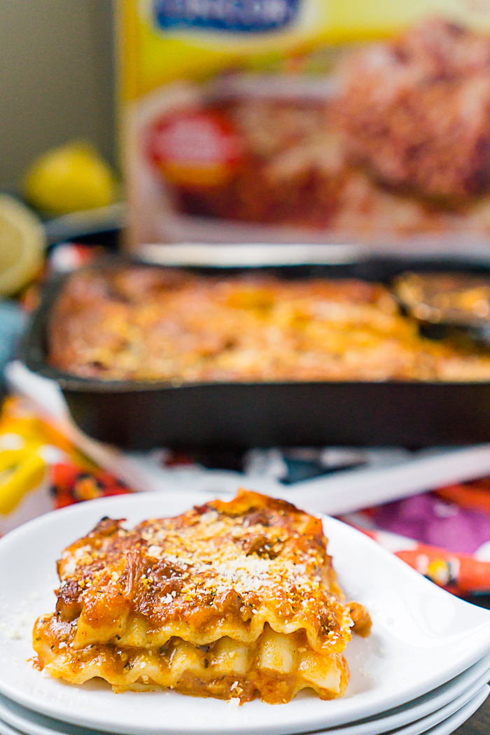Lasagna Night with a caprese side dish and pesto salad dressing