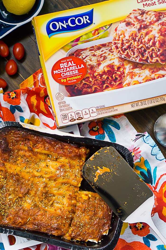 Easy Family Dinner with Frozen Lasagna and an Italian Salad
