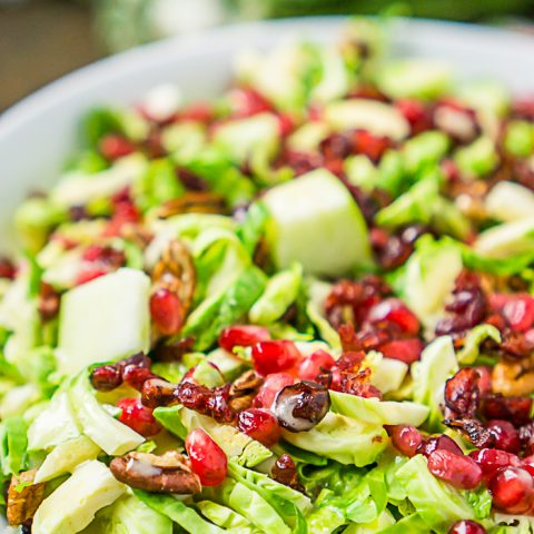 Cranberry Apple Brussels Sprout Salad - Easy Holiday Side Dish