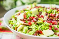 Brussels Sprouts Salad with Cranberries, Apples and Pecans is the perfect Thanksgiving salad recipe