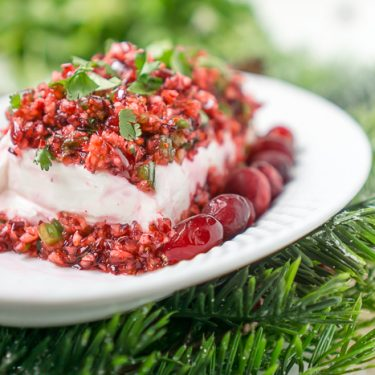 Cranberry Jalapeno Cream Cheese Dip – Fave Holiday Appetizer!