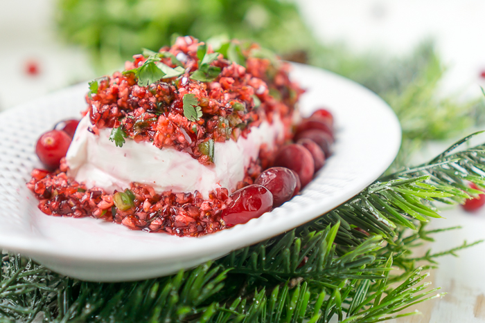 Cranberry Jalapeno Dip with Cream Cheese - An easy holiday appetizer for Christmas and Thanksgiving