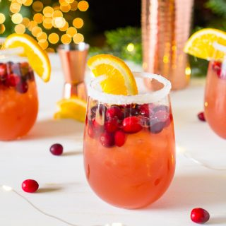 Orange Cranberry Margarita – Easy Holiday Cocktail!