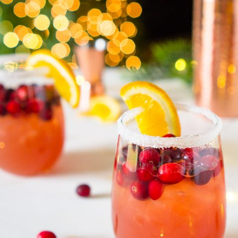 Cranberry Orange Margarita Recipe - Christmas Margaritas for your Holiday Party!