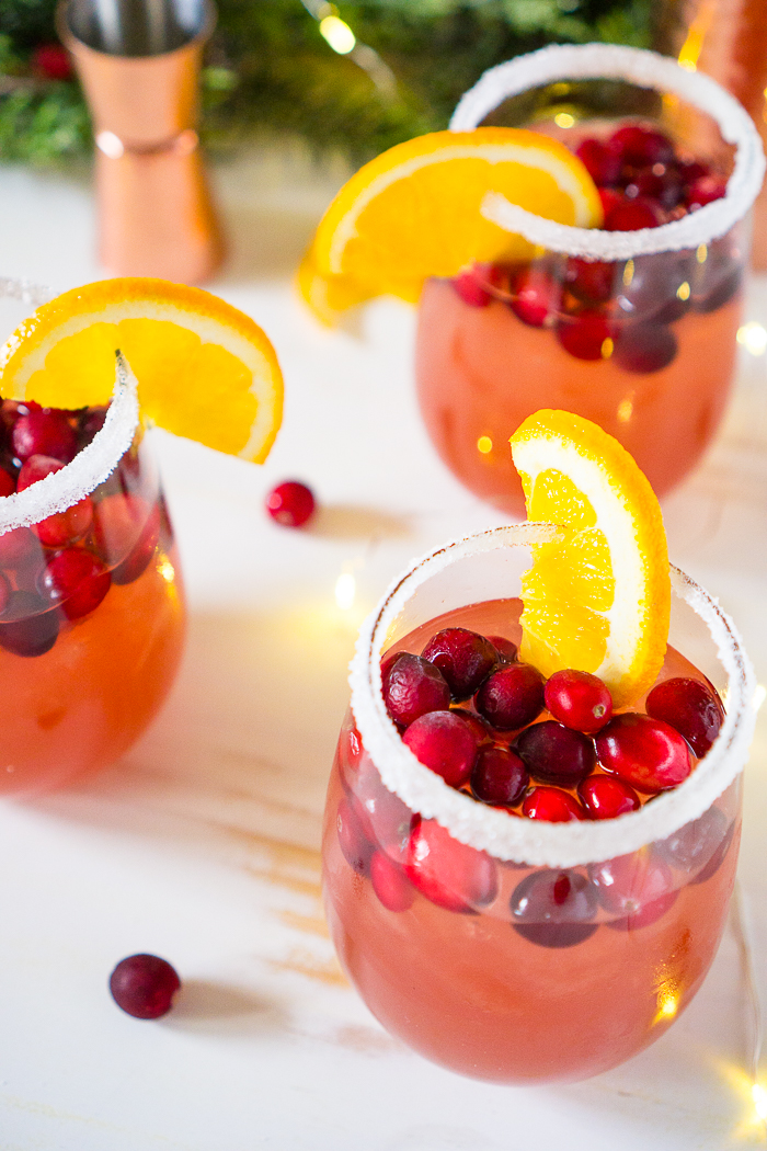Sip on this Citrus Cranberry Margarita this Holiday Season! Perfect Christmas Cocktail Recipe!