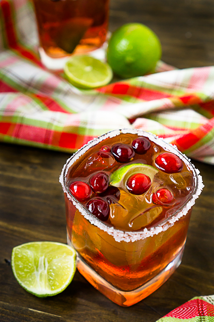 The Best Cranberry Cocktail Recipe with lime makes perfect holiday cocktail!