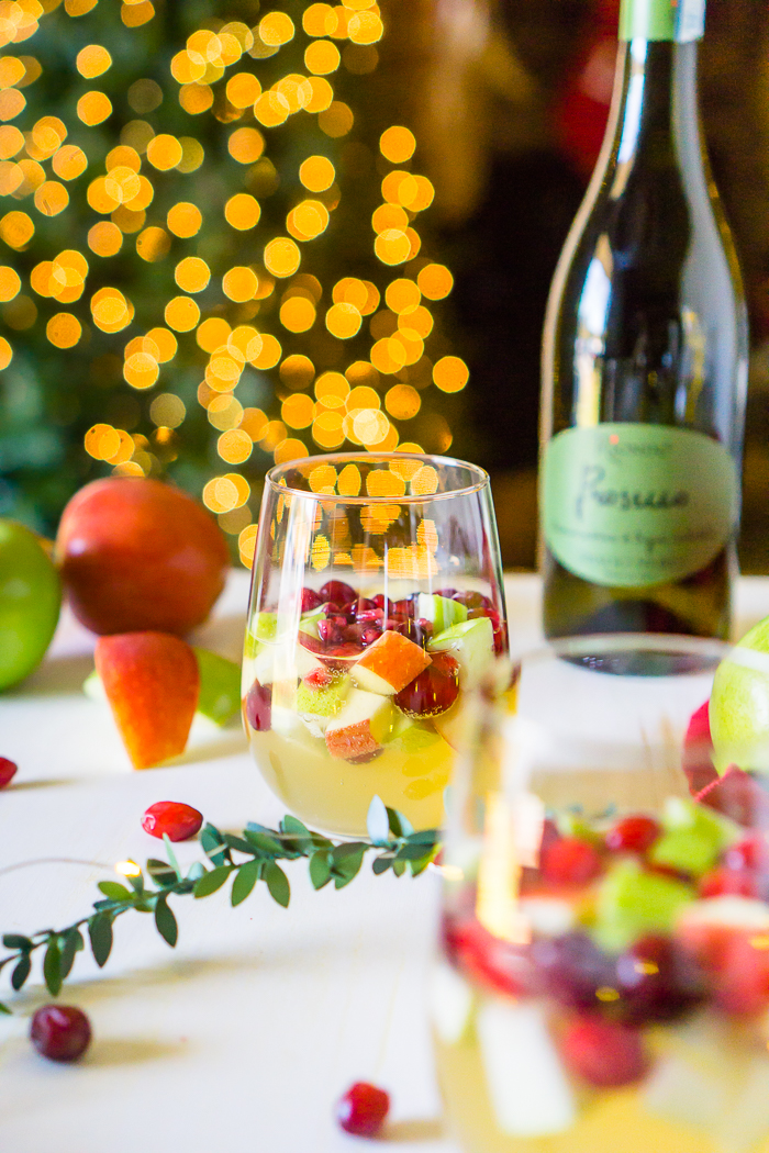 now its time to start making your sparkling holiday sangria
