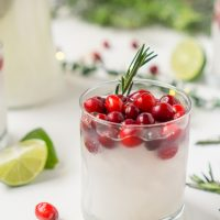 White Cranberry Margaritas with Coconut