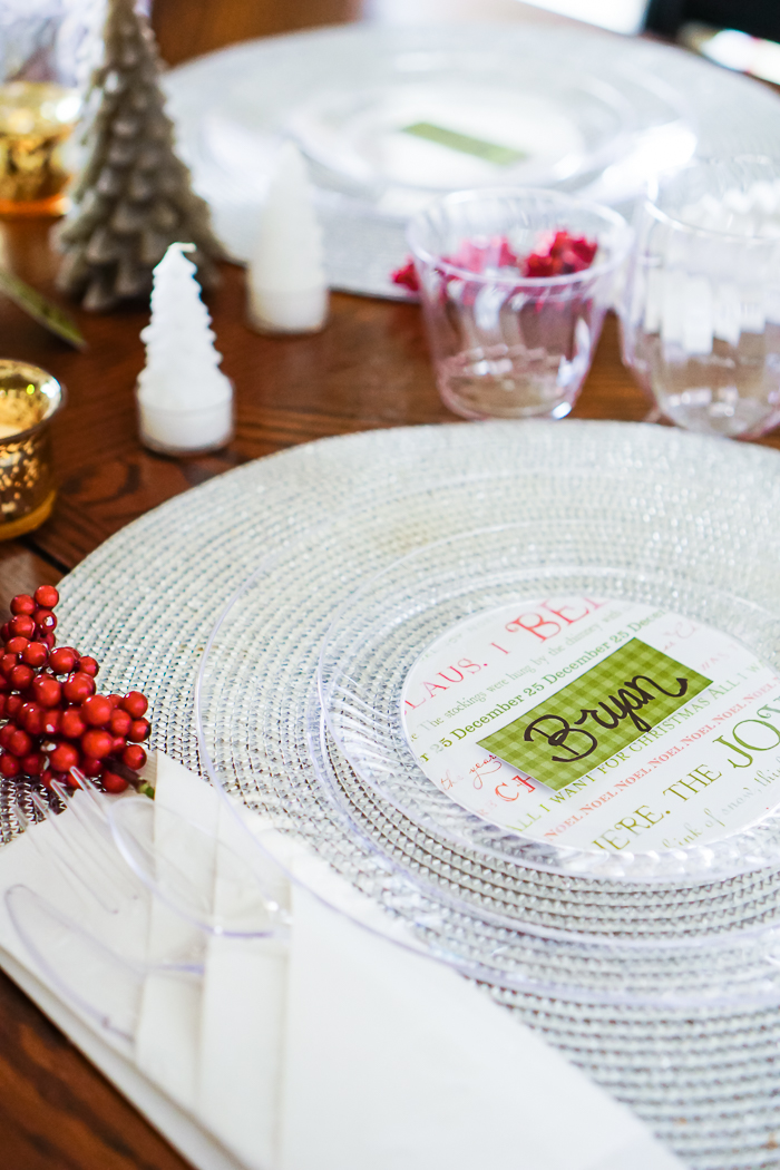 DIY Party Plates for Holiday Entertaining.