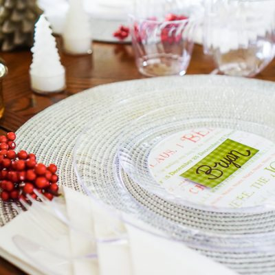 Easy Holiday Table Decor with Custom Disposable Party Plates