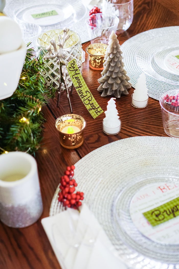 Easy Christmas Table Decor for the holiday season.