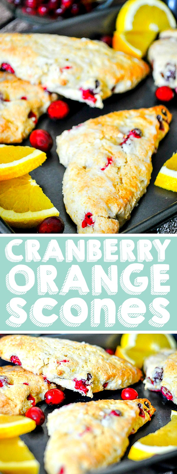 Delicious Orange Cranberry Scones make a delicious Christmas morning treat. Or Thanksgiving. Or New Years! Really any day of the year you will love this easy scone recipe! Spruce it up for the holidays with a little egg nog for an even richer, creamier taste!| THE LOVE NERDS #sconerecipe #christmasbreakfast #holidayscone #cranberryrecipe