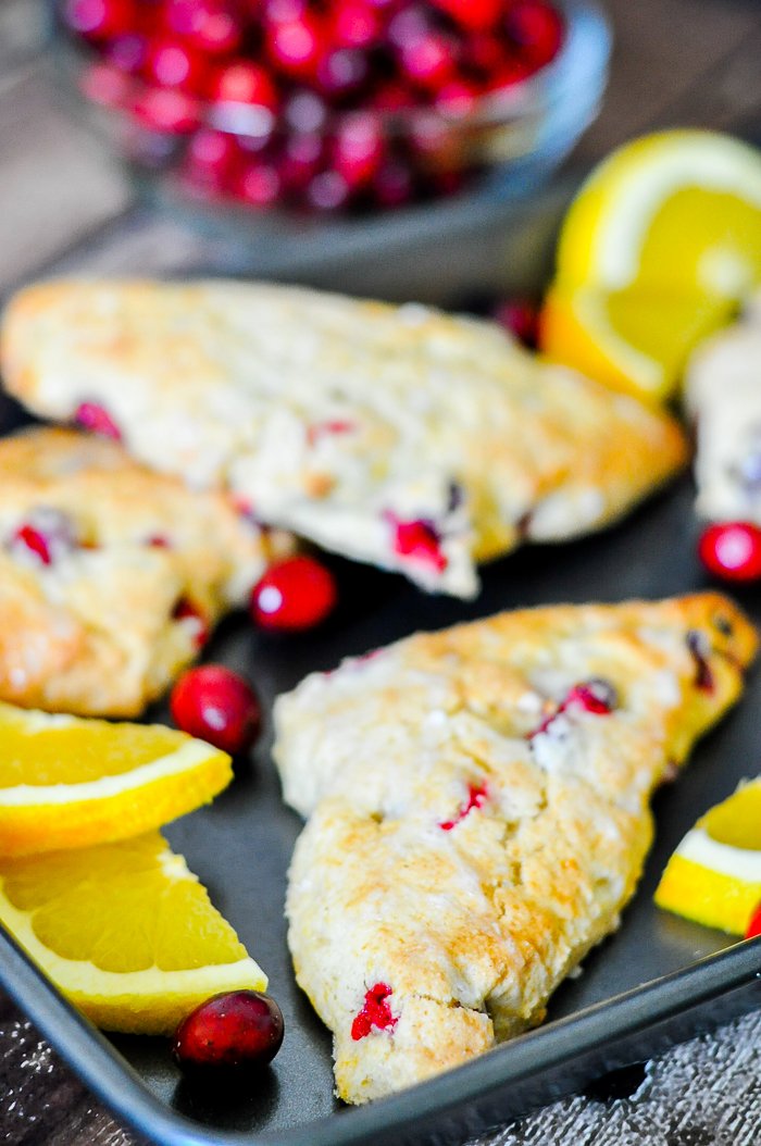 Orange Cranberry Scones with Egg Nog are the perfect Christmas breakfast recipe!
